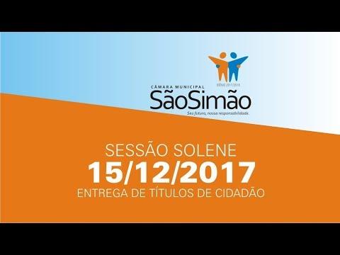 SESSÃO SOLENE - TITULOS DE CIDADAO 15/12/2017