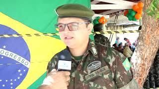 Prefeitura municipal e exército brasileiro promoveram um dia de Ação Cívico Social
