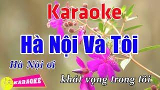 Hà Nội Và Tôi - Karaoke HD || Beat Chuẩn ➤ Bến Thành Audio Video