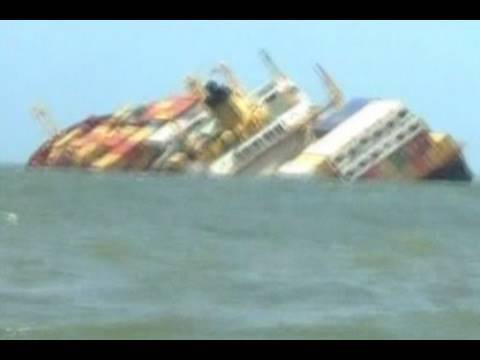 Ships Collide off Mumbai, India Coast