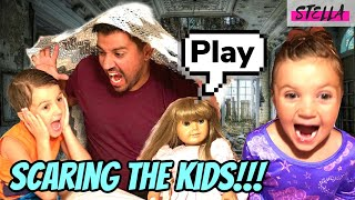 SCARING THE KIDS!!! Mom and Dad scare the kids with the BEST pranks