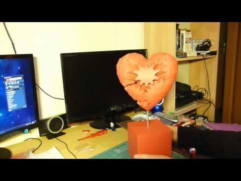 Papercraft Gears Heart - papercraft