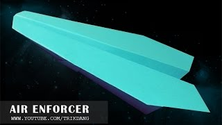 100 FEET PAPER AIRPLANE: Let's Make A Paper Plane That Flies | Air Enforcer