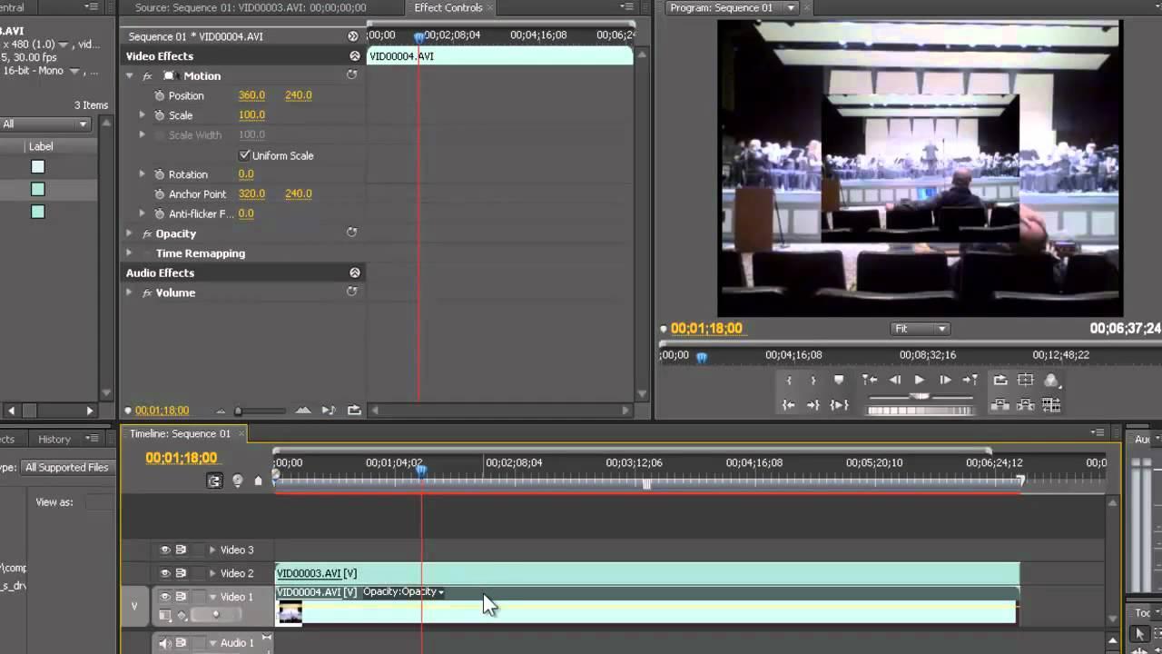 Split Screen Effect in Premiere Pro CS4 - YouTube