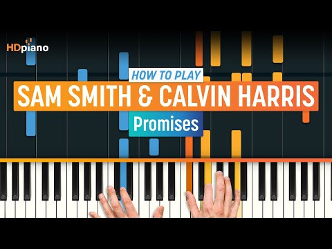 How To Play Promises by Sam Smith & Calvin Harris  piano Part 1 Piano Tutorial