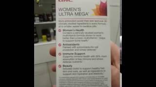 Внешний обзор женских витаминок GNC Women`s Ultra Mega 90 таблеток . ProteinHouse.net