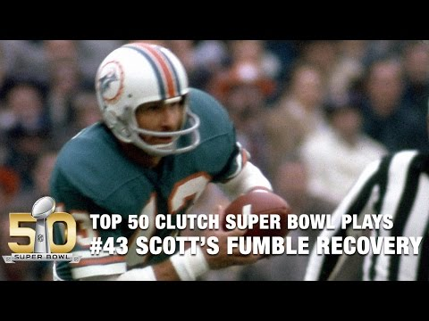 #43: Dolphins Jake Scott recovers Oscar Reed Fumble on 4th & 1 | Top 50 Clutch Super Bowl Plays