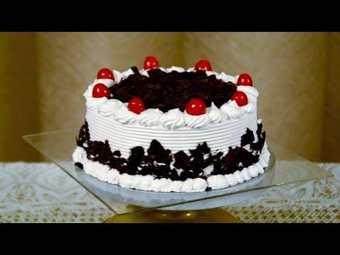 Eggless Black Forest Cake Recipe - Easy Fresh Cream Cake Frosting