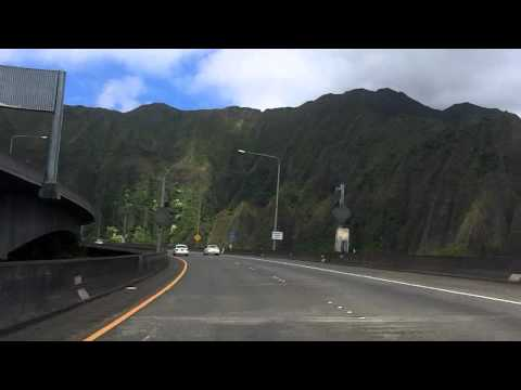 driving on the h-3, kaneohe, hawaii