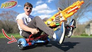 HOVERBOARD NERF GUN!!