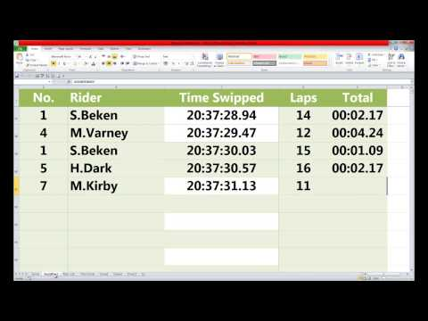 Reading RFID Using Excel For Enduro Timing.