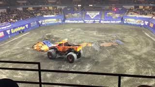 Grave Digger(Tyler Menninga) Freestyle Worcester 2017 Saturday Night