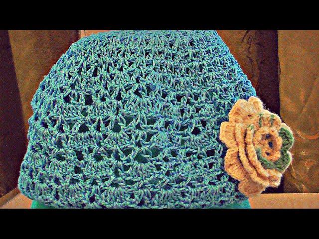 вязание летних шапок крючком видео уроки урок 7877 Modblogru