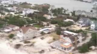 Hurricane Sandy: Aerial View of New Jersey Coastline Near Seaside Heights
