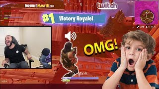 Hamlinz Helps Kid Get His FIRST WIN Then TROLLS Him!! 😂| Fortnite Highlights & Funny Moments #46