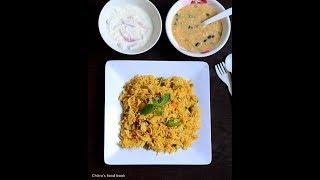 Vegetable Biryani in Pressure Cooker - Pressure Cooker Biryani - Easy Bachelors Biryani Recipe