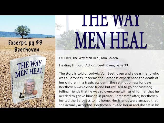 Excerpt -  The Way Men Heal -  How Did Beethoven handle loss?