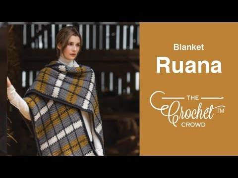 How To Crochet A Ruana Plaid Blanket Poncho Wrap Youtube