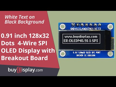 "Serial SPI White 0.91"" inch Arduino,Raspberry Pi OLED Display 128x32"