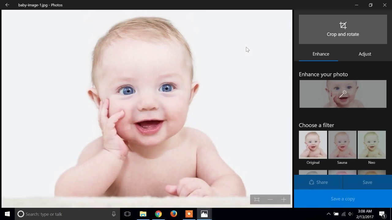 How to crop an image in Windows 10