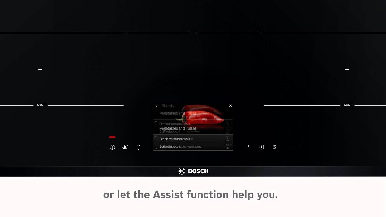 Elektrische kookplaten Bosch TFT Touchdisplay