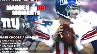 THAT WAS BETTER THAN THE SUPERBOWL - LETS PLAY MADDEN 09 MOMENTS END