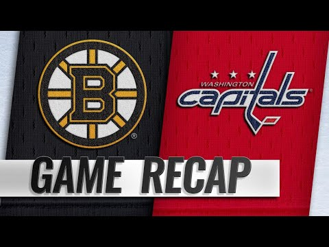 Rask sets Bruins wins record in victory against Caps