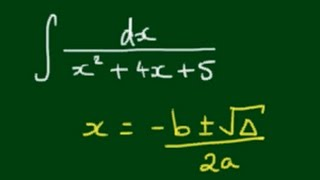 Integral of ∫dx / (x^2 + 4x + 5) by Trigonometric Substitution