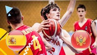 LIVE Spain v Montenegro Round of 16 FIBA U16 European Championship 2018
