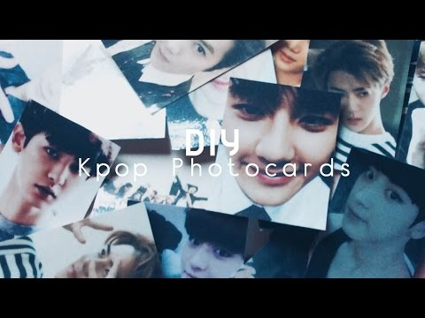 How To Make Your Own KPOP Photocards ♦︎ Diy