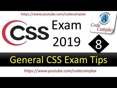 CSS Exam 2019 - FPSC CSS Exam Preparation in Pakistan 2019 – Lecture #8 (General CSS Exam Tips)