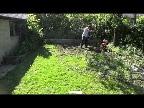 Tilling The Lawn With A Troy-Bilt Tiller (Backyard Landscaping)