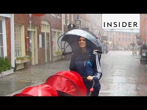This Hands-free Umbrella is the Perfect Travel Accessory