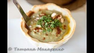 Суп пюре из брокколи и шпината   в тарталетках (суповарка Smail, тарталетницы)