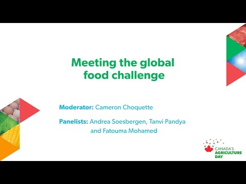 Meeting the global food challenge:  Canada's Agriculture Day in Ottawa youth panel