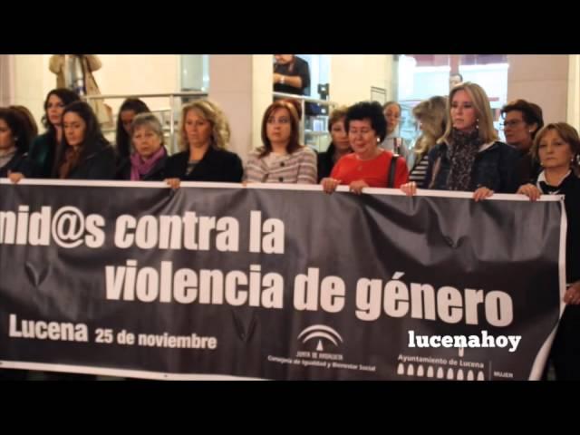 Vídeo Noticia: Actos de repulsa en Lucena por el asesinato de Toñi Bujalance