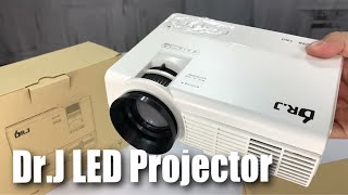 DR.J 1500 Lumens Portable Mini LED Projector (170 Inch Max Projection Display) Full Test and Review