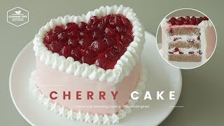 체리🍒 케이크 만들기 : Cherry Cake Recipe - Cooking tree 쿠킹트리*Cooking ASMR