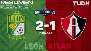 Resumen y goles   León 2-1 Atlas   Guard1anes 2020 Liga Mx - J7   TUDN