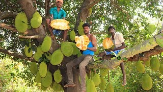 Farm Fresh JACKFRUITS Cutting and Eating in my Village | village food taste