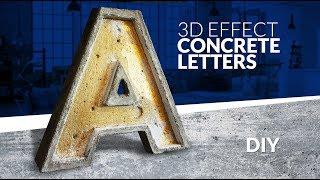 3D LETTERS - Room decor - CONCRETE