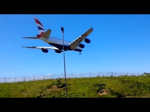 Close encounter with Airbus A380 in Durban on landing!