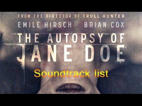 The Autopsy of Jane Doe  Soundtrack list