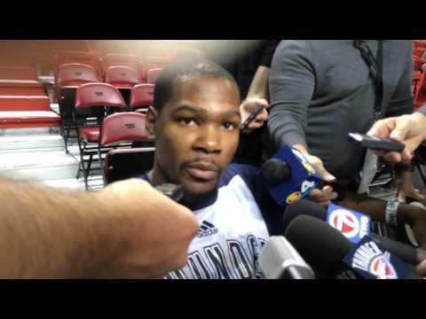 Durant: Shootaround in Miami