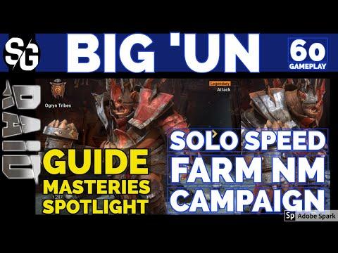 RAID SHADOW LEGENDS   BIG 'UN GUIDE MASTERIES   SOLO SPEED FARM NM CAMPAIGN