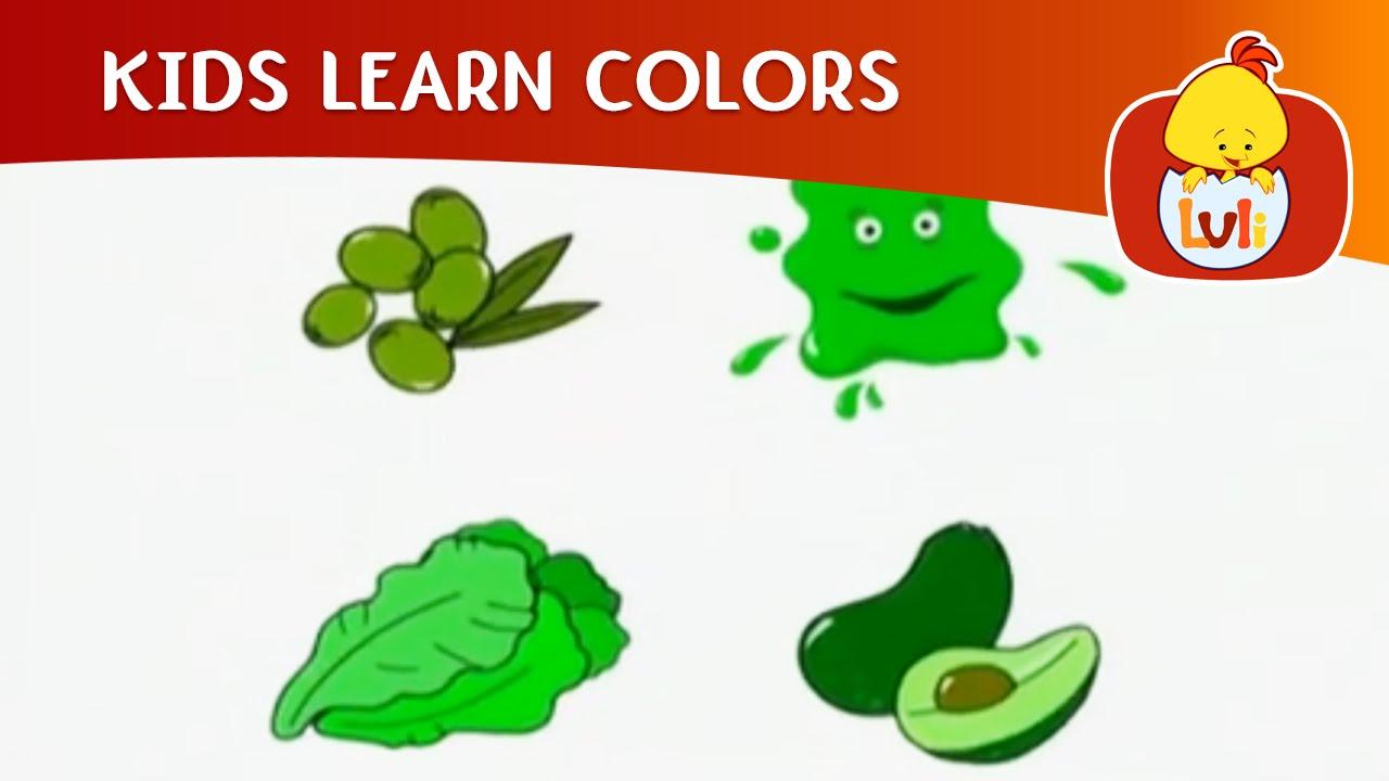 Kids Learn Colors - Green   Cartoon for Children - Luli TV - YouTube