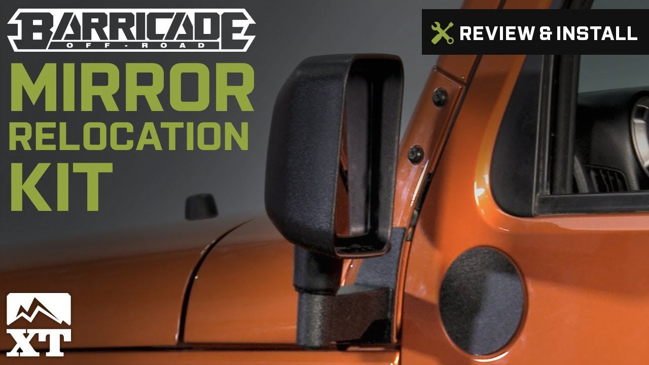 Jeep Wrangler Barricade Mirror Relocation Kit 2007 2016