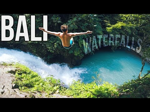 Cliff Jumping | Hidden waterfalls of Bali | Natural Waterslide