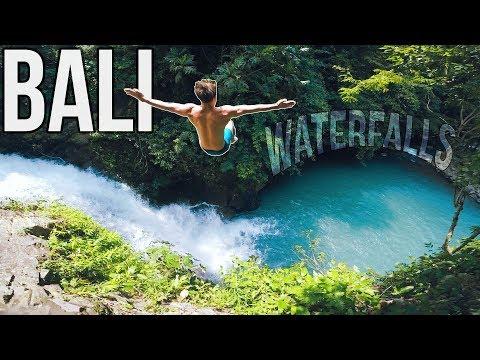 Cliff Jumping | Hidden waterfalls of Bali | Natural Waterslide
