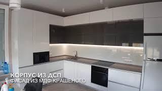 Кухня GREY GLASS / Обзор Кухни / Фурнитура BLUM / IDEASTUDIO Dnepr/ Кухни под заказ